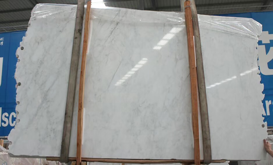 1.8cm Carrara White Marble Slabs For Clearance Sale