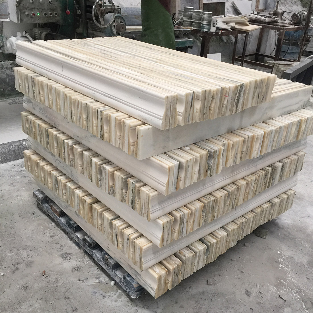 Customize Natural Marble Line Mouldings & Moldings