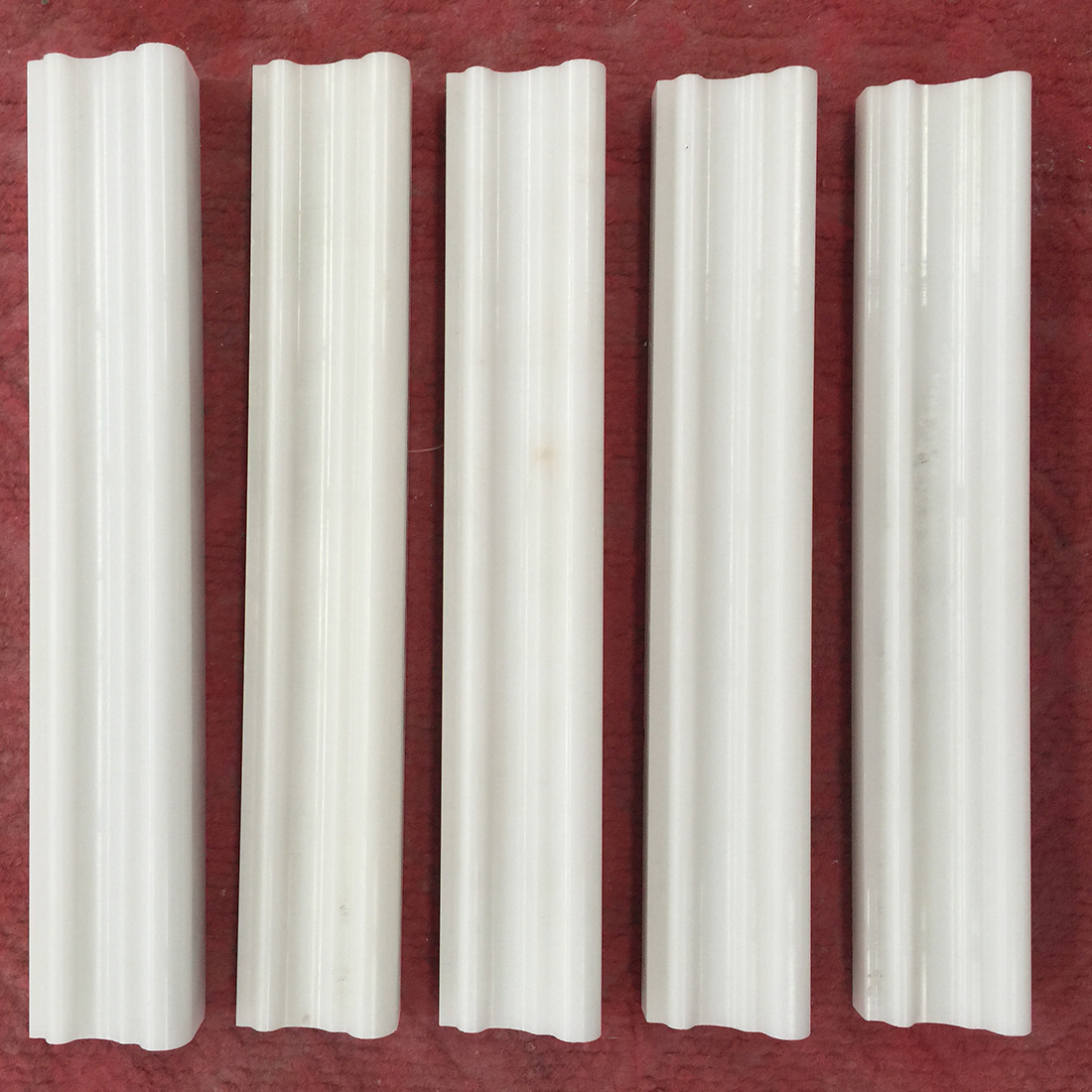 Natural White Marble Line Moulding Customize