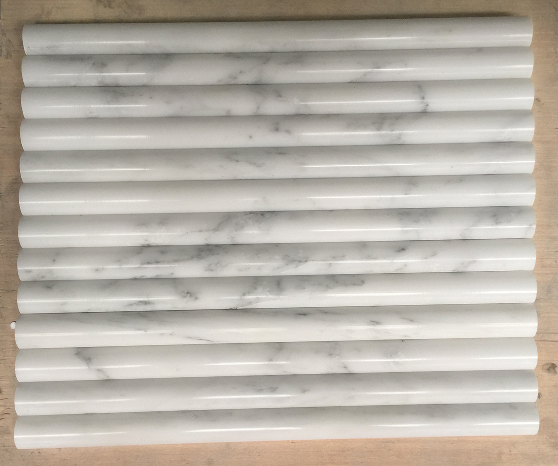 Pencil Line Moulding White Marble