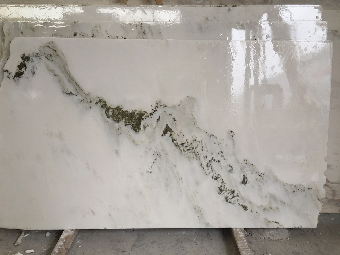 Large quanlity of landscape painting marble slabs on sale