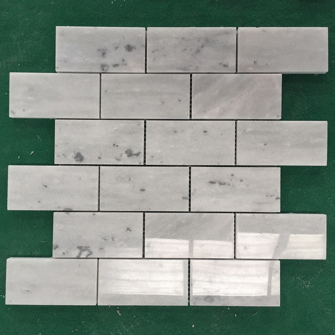 Rectangle Grey Marble Mosaic Tiles