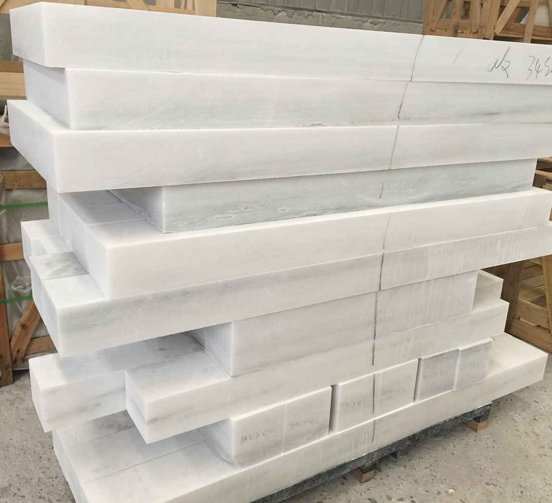 Natural Cut Stone White Color