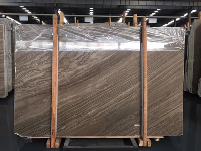 Kylin Wood Vein Marble Big Slab Tile Cut To Size