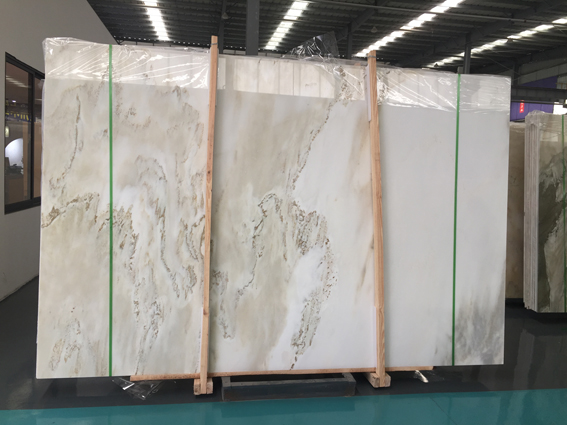 Landscape Painting White Marble White Painting Marble