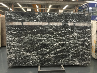 Italy Black Marble Italian Black Marble Chinese Black with White Vein Marble
