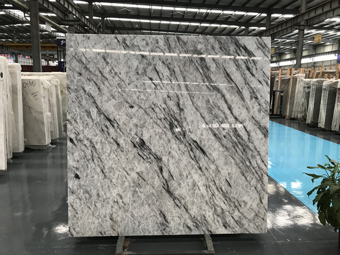 Blue Crystal Marble Slab Tile Cut To Size