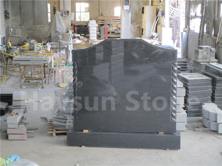 Dark Grey Granite Monument Tombstone for Ireland