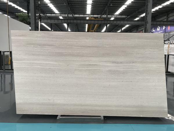 White Wood Marble Haisa Light White Serpeggiate Slabs