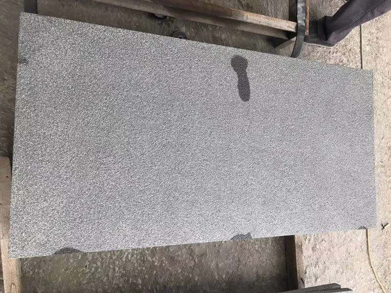 Yixian Black Bush Hammered Granite Tiles