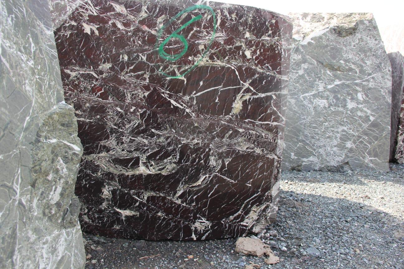 Rosso Levento Elazig Visne Marble Blocks