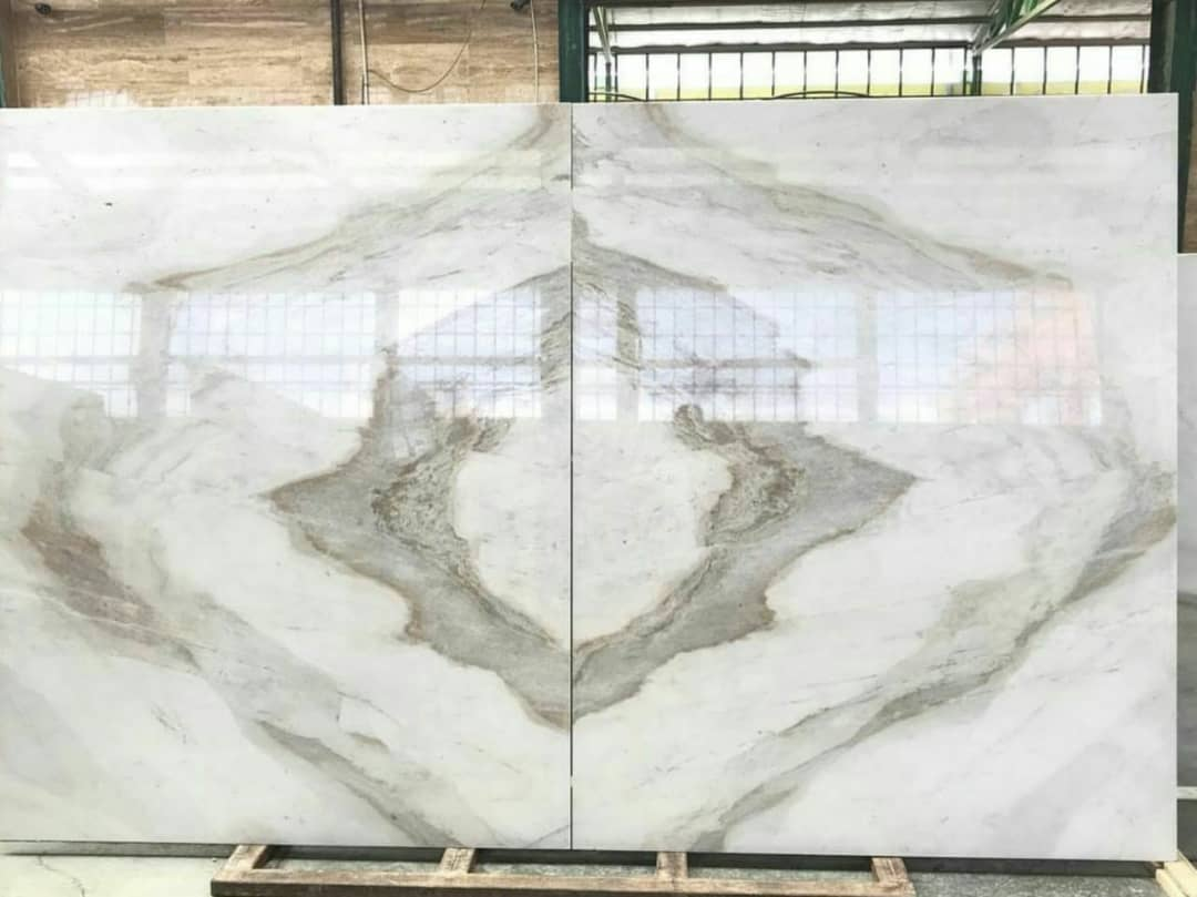 Polished Crystal White Marble Slabs