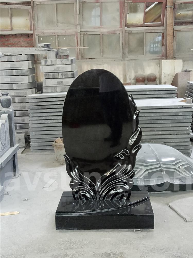 Black Headstone Tombstone Monument