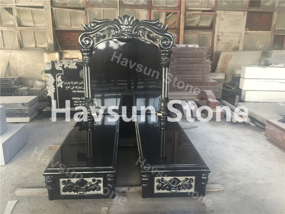 Jewish Style Double Monument Tombstone for USA