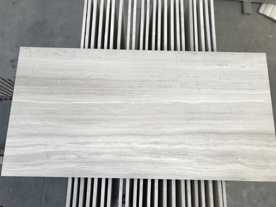 Haisa Light  Wooden White Marble Tile   White Serpeggiante Marble Tile