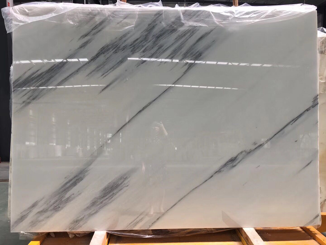 Blue Sky and White Cloud High Quality China White Marble Slabs