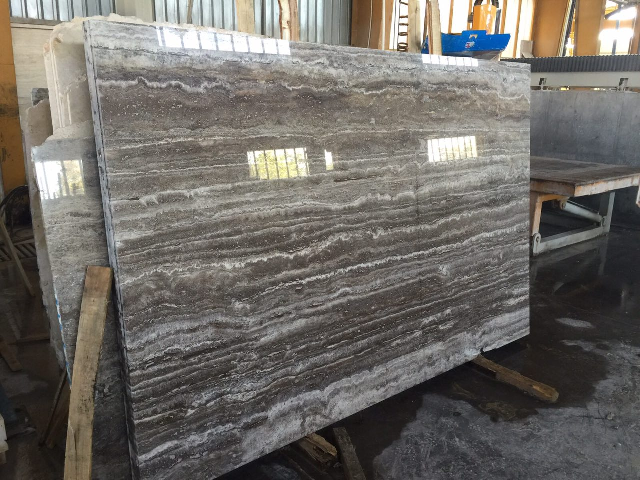 Grey Travertine Tile slab blocks