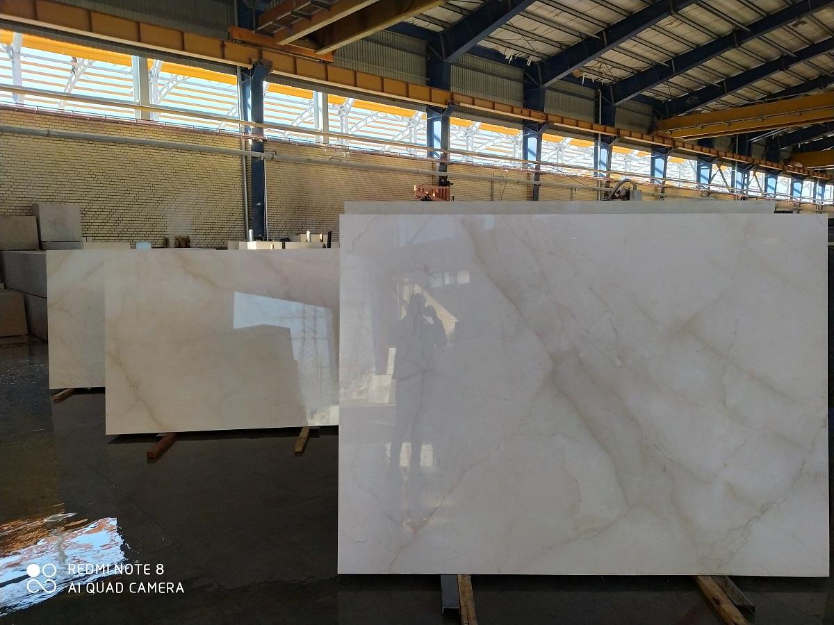White Marble Slab Tile Block Iran Dehbid