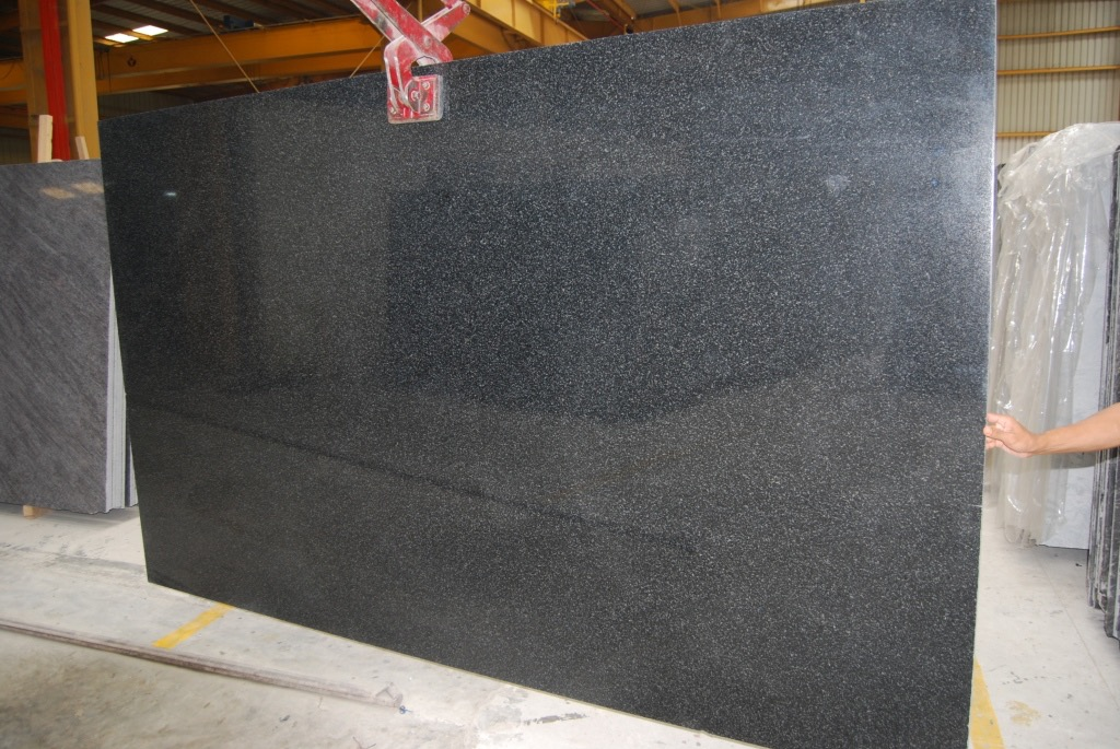 Impala Black Granite Slabs Polished Indian Slabs
