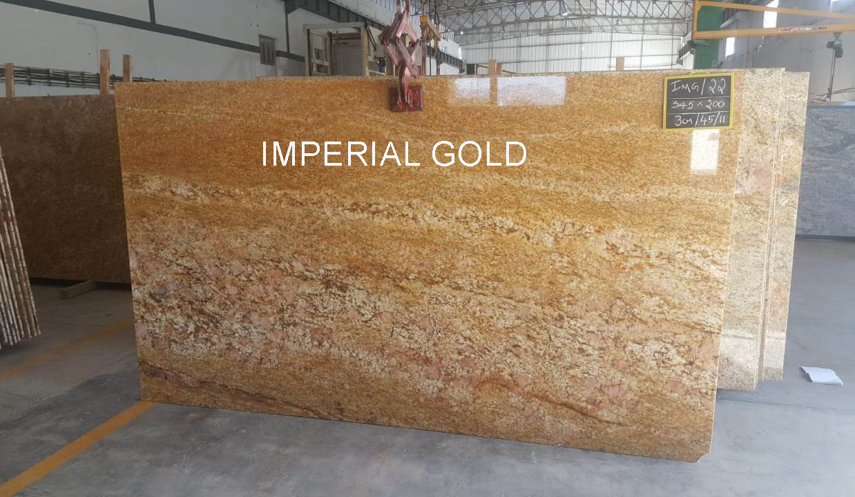 Imperial Gold Granite Polished Slabs