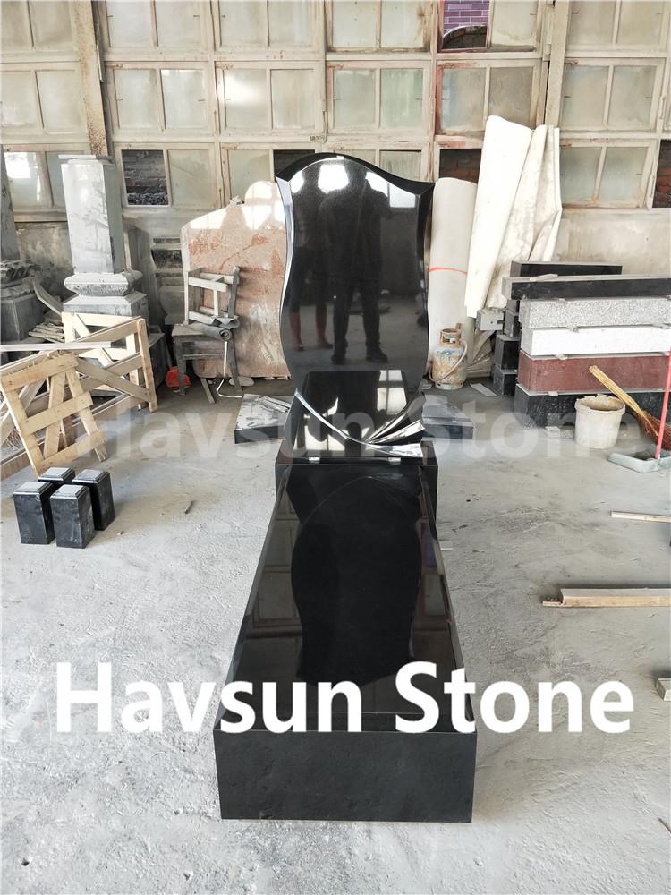 Black Color Cheap Tombstone Monument Gravestone