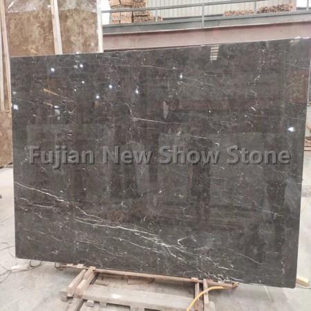 Dark grey emperador marble slab
