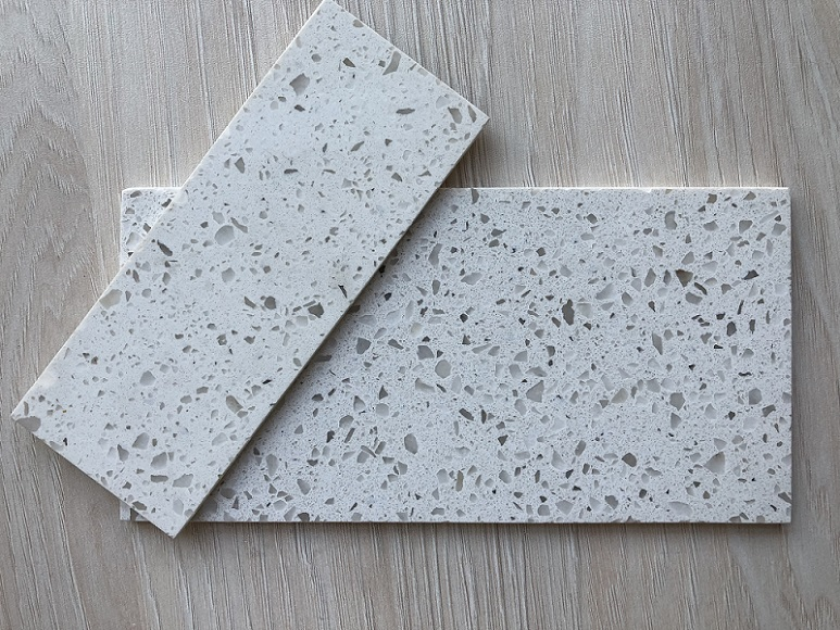 ice white quartz stone slab