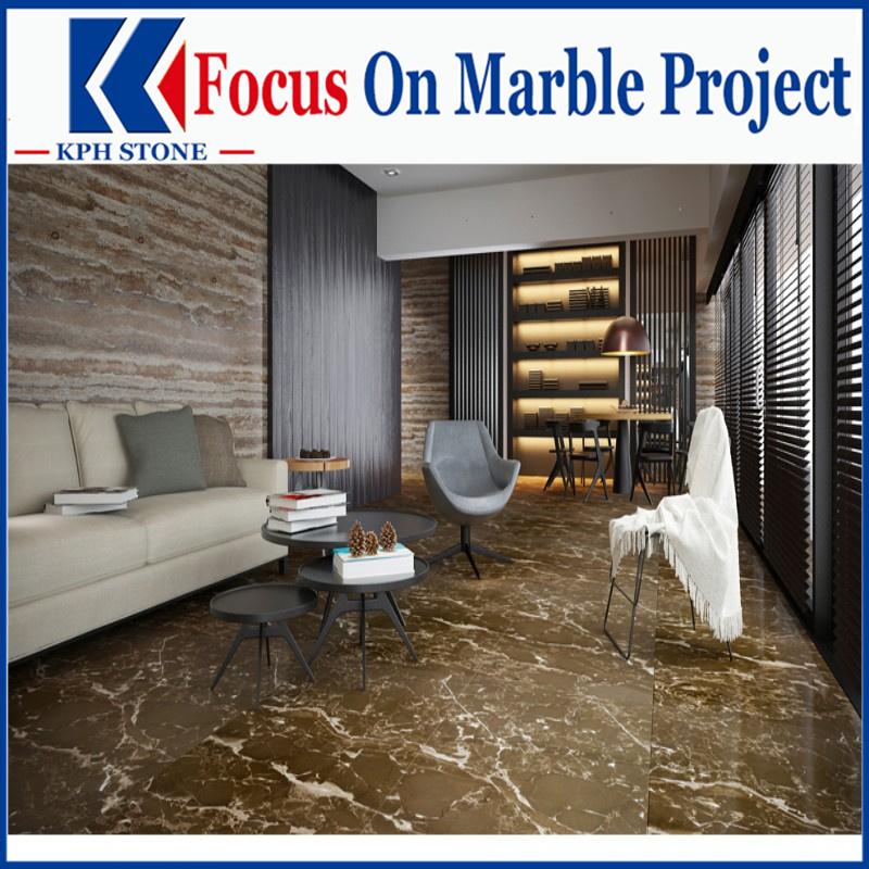 Royal Brown Golden Marble Tiles for Casa Del Mar