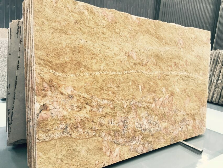 Lowest Price Imperial Gold Dust Granite Slabs and Tiles and Cut-To-Size