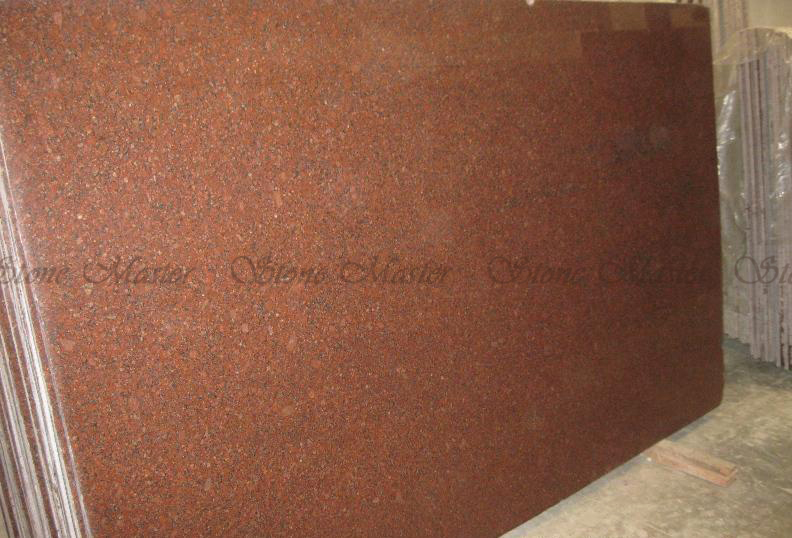 Imperial Red Polished Granite Slabs