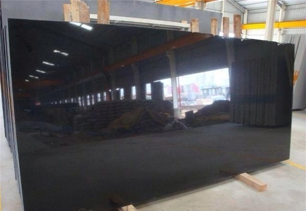 India Black Granite Slabs Polished Surface
