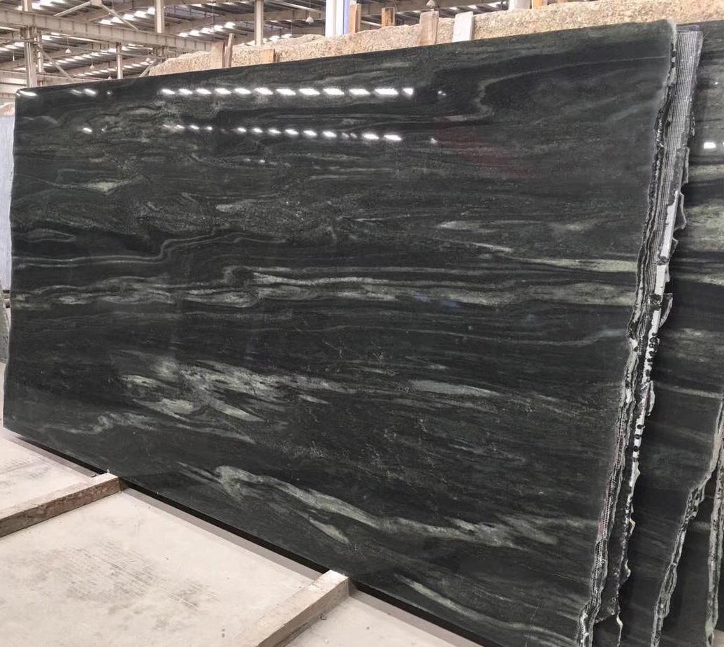 Indian Green Polished Granite Slabs