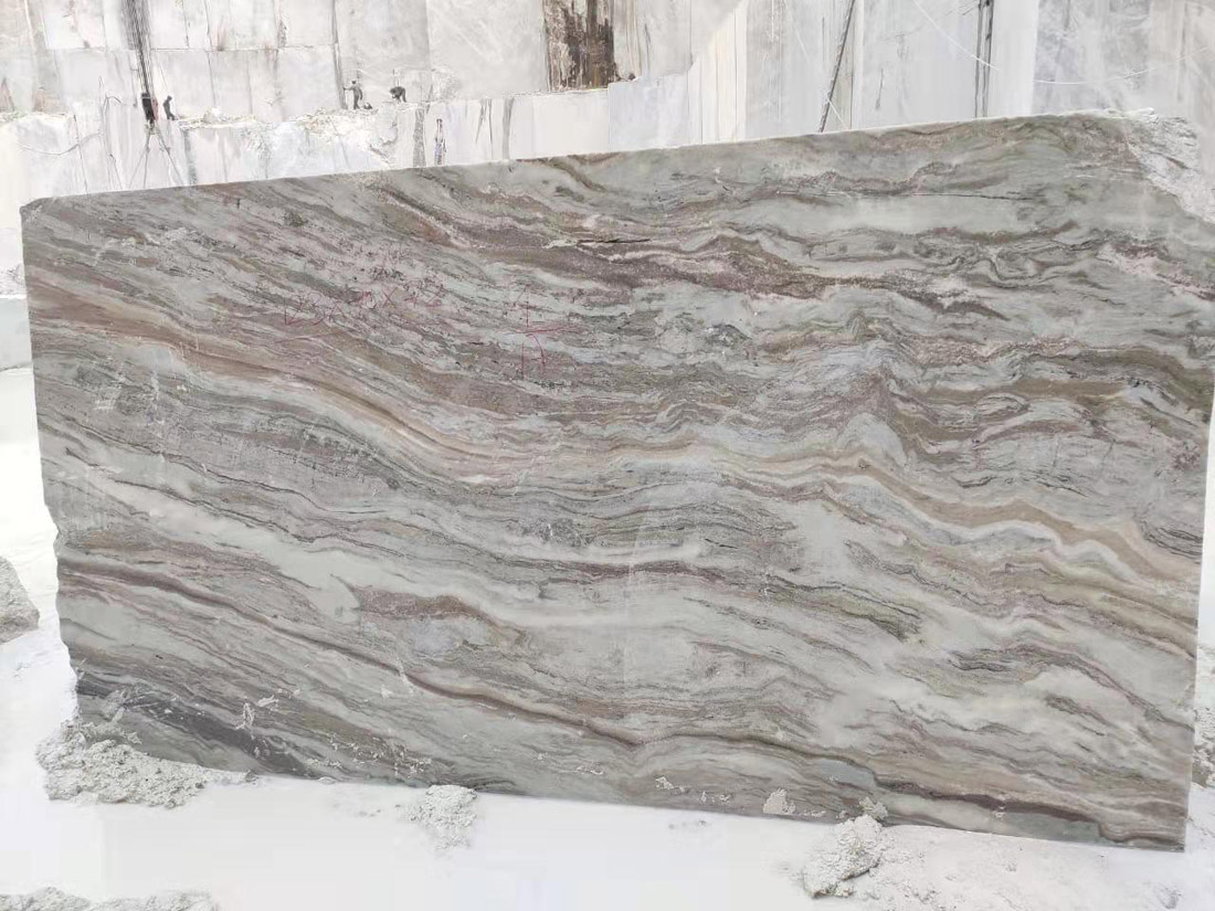 Indian Fantsy Brown Marble Stone Blocks
