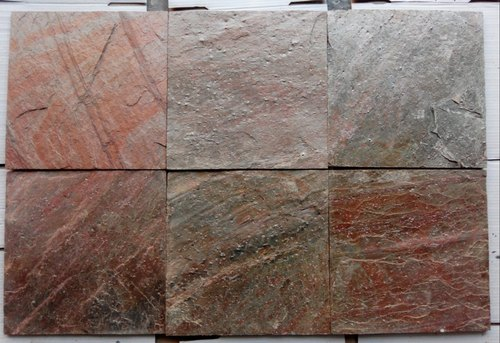 Indian Quartzite Copper Slate Polished Tiles