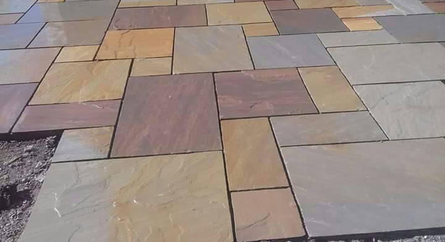 Indian Multi Color Sandstone Landscape Paving