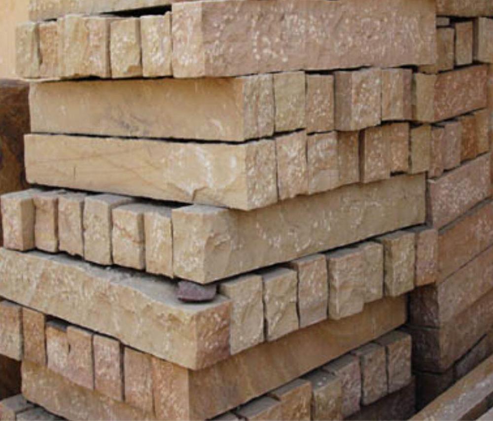 Indian sandstone kerb stone