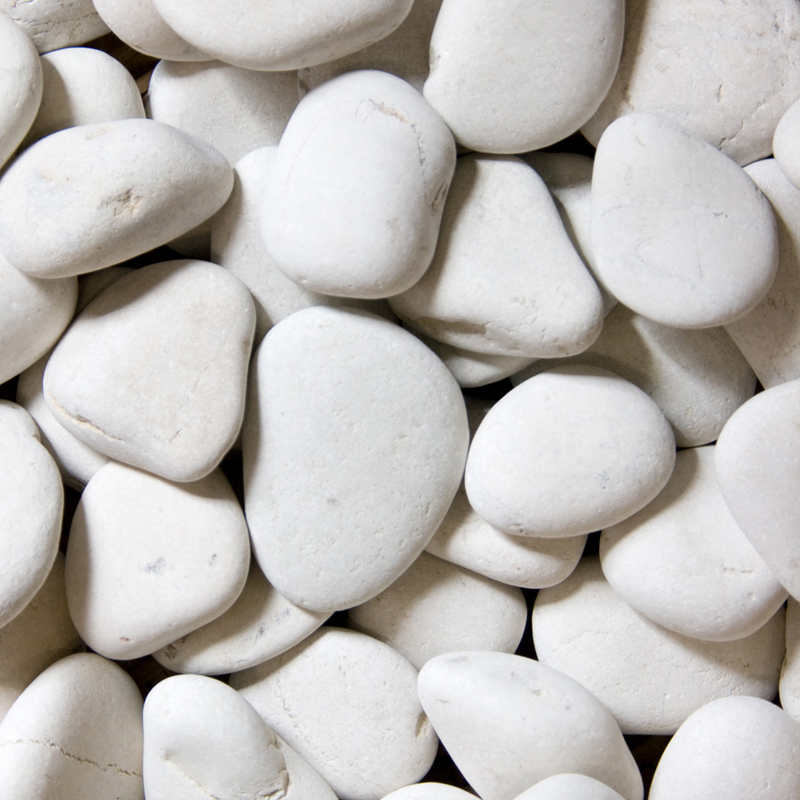 White Beach Pebbles Stone  Indonesia White Natural Pebble Stone  White Loose Pebble Walkway