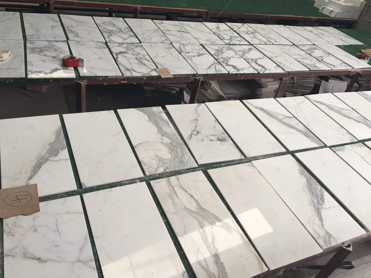 Italian white marble tiles