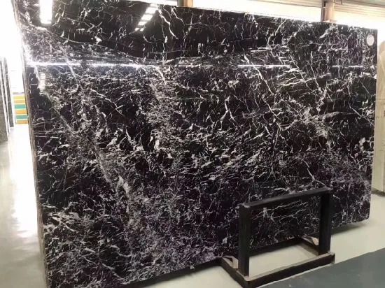 China Italy Nero Black Marble For Tiles