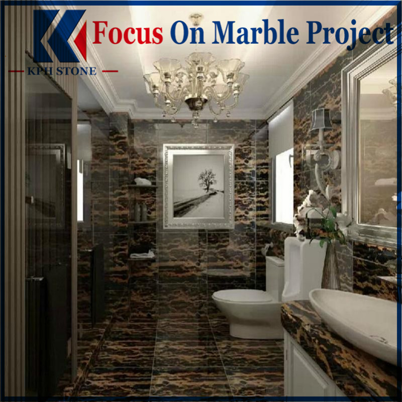 Portopo Gold Marble Bathroom Decorating