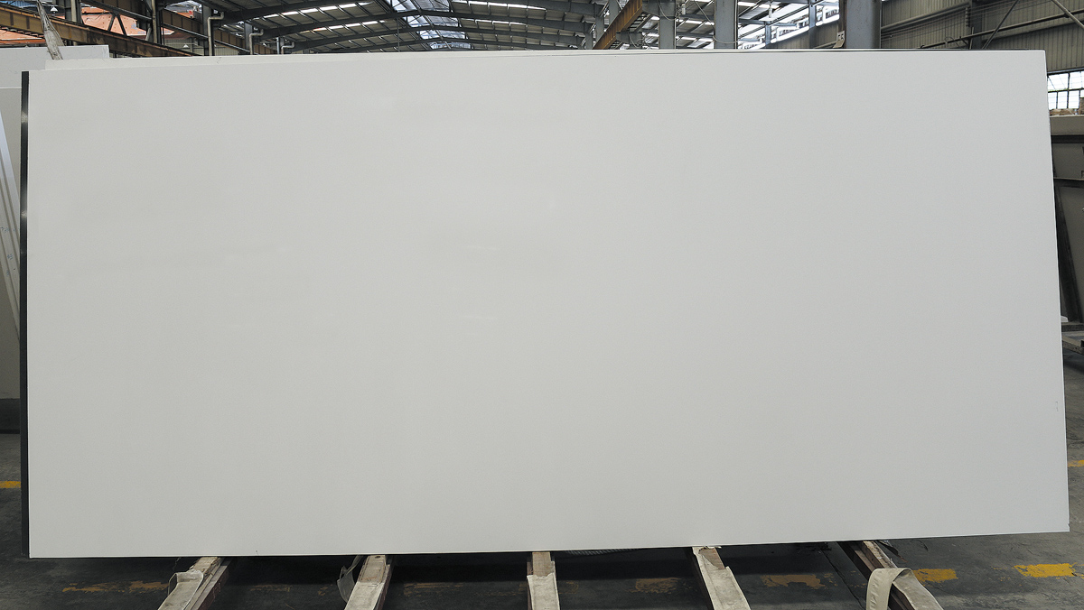 Competitive Pure White Quartz Slab for Countertop