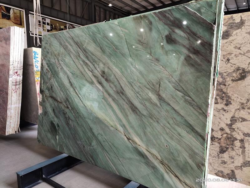 Brazil Jade Quartzite Verde Gaya Granite Slabs Gaya Green Quartzite Slabs