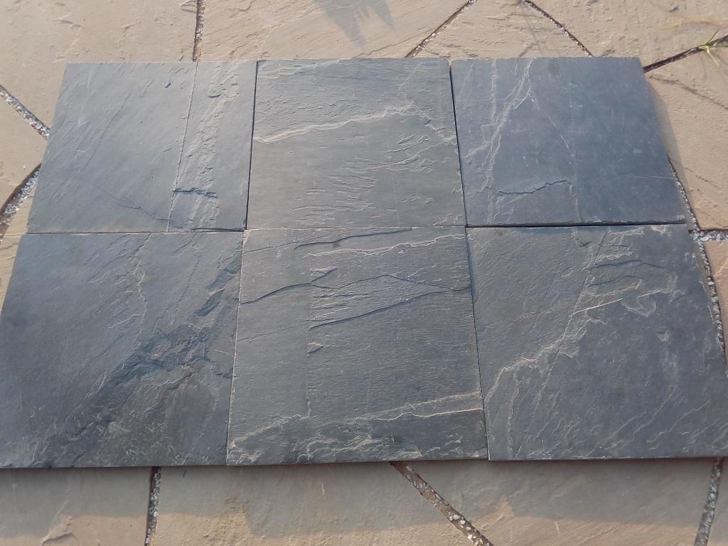 Jak Black Slate - Dry Tiles