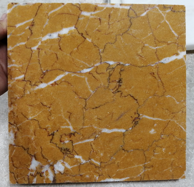 China Gloriously Gold Marble Tiles Slabs for hotel house project