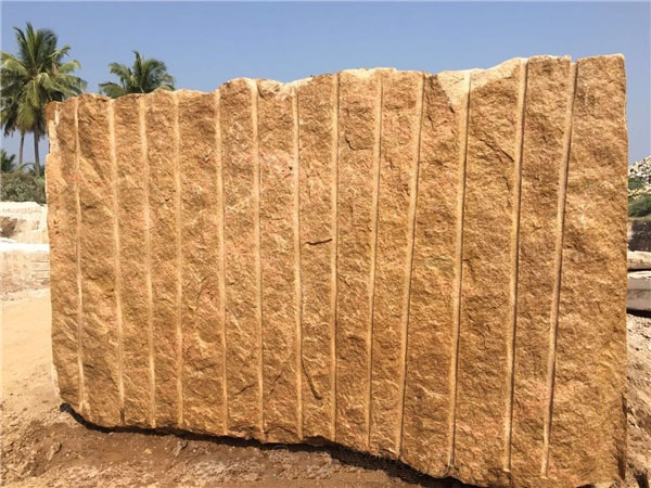 India Kangayam Gold Granite Blocks