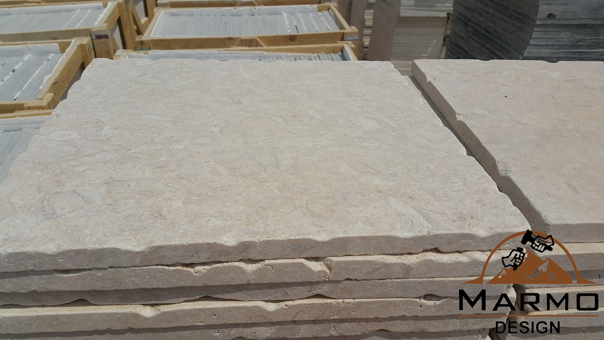 Khatmia Beige Tiles Egyptian Tumbled Marble Tiles