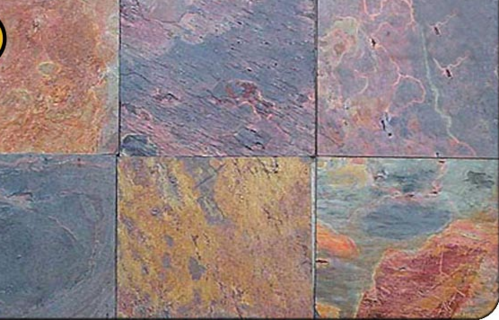 Kund Multi Color Slate Stone Tiles