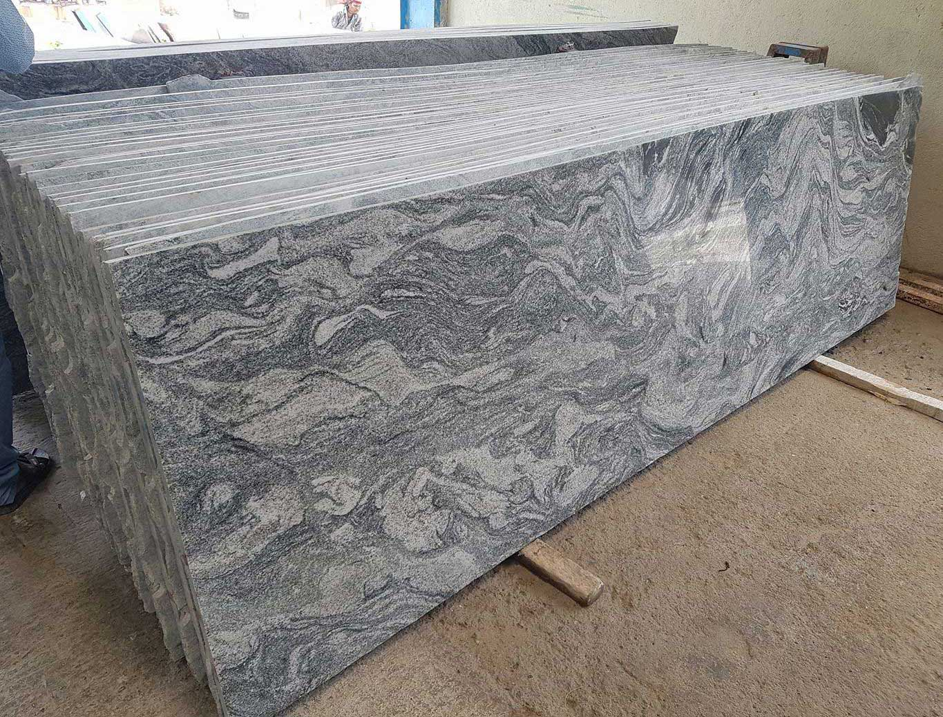 India Kuppam green granites slabs