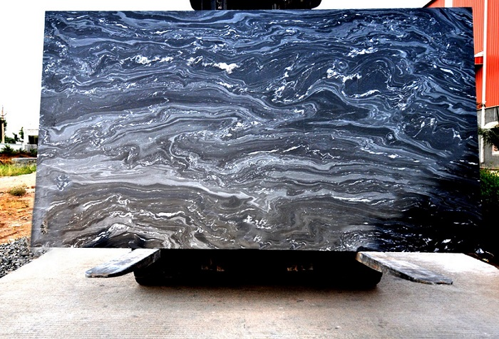 Lava Black Marble - Slab