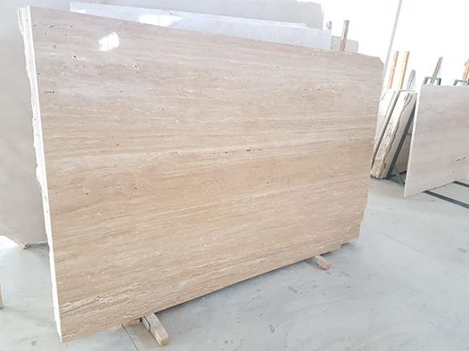 Light Travertine Slabs Polished Beige Travertine Stone Slabs